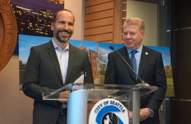 Expedia CEO Dara with Seattle Mayor Ed Murray