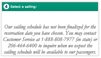 Washington State ferries botch launch of online reservation system