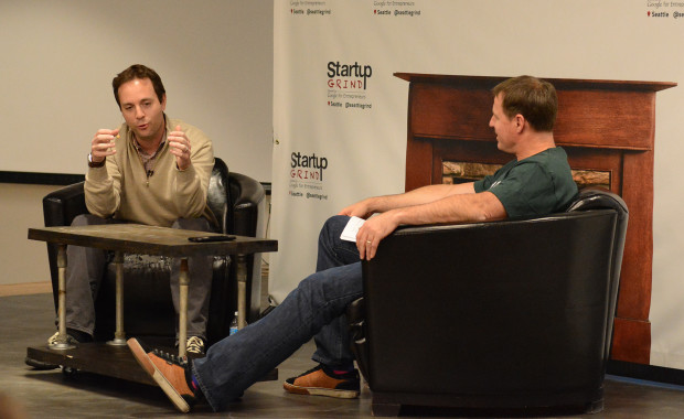 Spencer Rascoff speaking with Mike Grabham of Startup Grind.