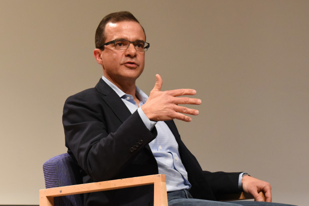 Amazon.com senior vice president Jeff Wilke speaking at Seattle University