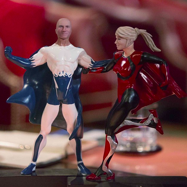 Photo via You Kick Ass/Instagram/ Action figures appearing on Friday's Shark Tank