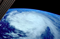 Photo via Twitter/@AstroTerry of Typhoon Noul over the Pacific