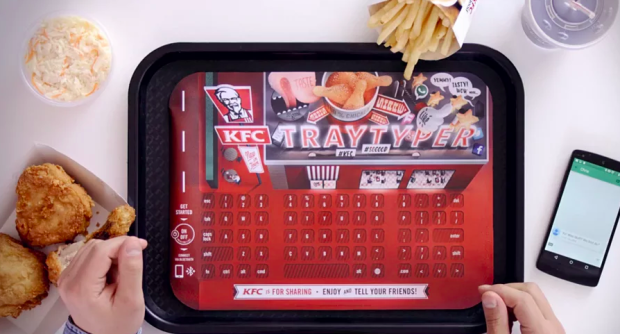 Photo via Vimeo/KFC Tray Typer