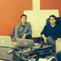 SherpaShare co-founders Jianming Zhou and Ryder Pearce.