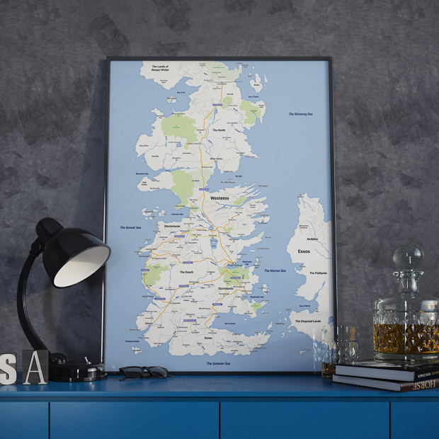 image about Printable Map of Westeros titled Incorporate a small Video game of Thrones design towards your pad with this