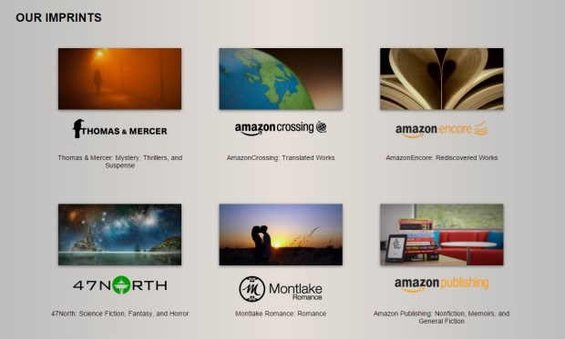 Amazon now has 14 different imprints, or publishing houses.