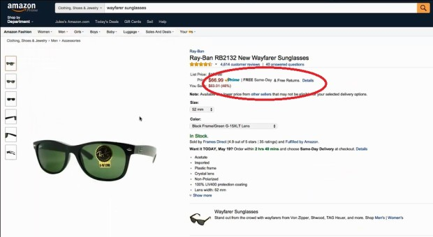 amazon sunglasses same day