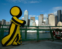 "AOL's old ""Running Man"" mascot in Seattle,"