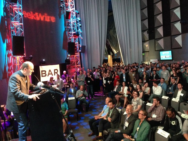 The scene at the GeekWire Awards at EMP.
