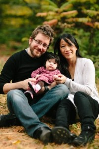 Richard and Quynh along with their daughter Zoe.