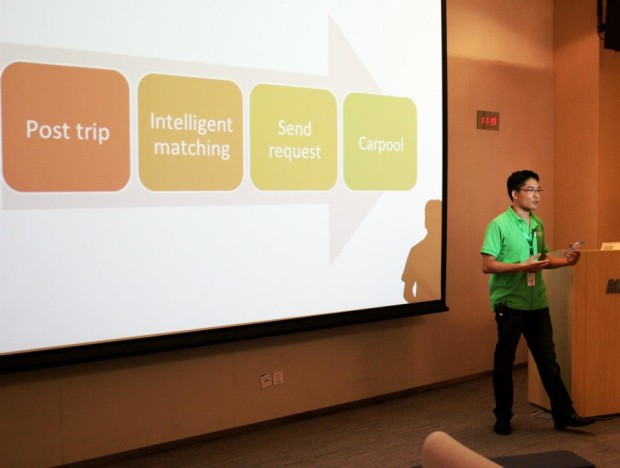 BarCamp presentation at Microsoft Research building in Beijing