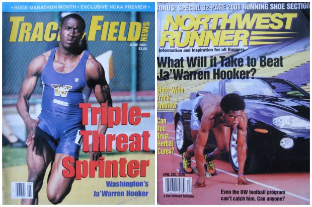 Ja'Warren Hooker ran track at the University of Washington for four years.