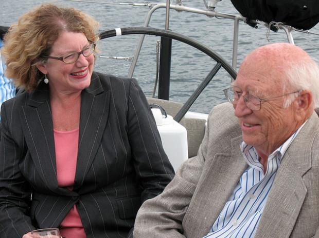 Susannah Malarkey with Bill Gates Sr. Photo via Technology Alliance.