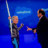 Salesforce co-founder Parker Harris hamming it up with CEO Marc Benioff at a company event. (Photo: Salesforce.com)