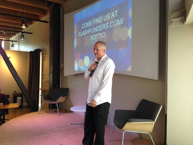 Yottio founder Jon Lawrence at the Seattle Angel Conference.