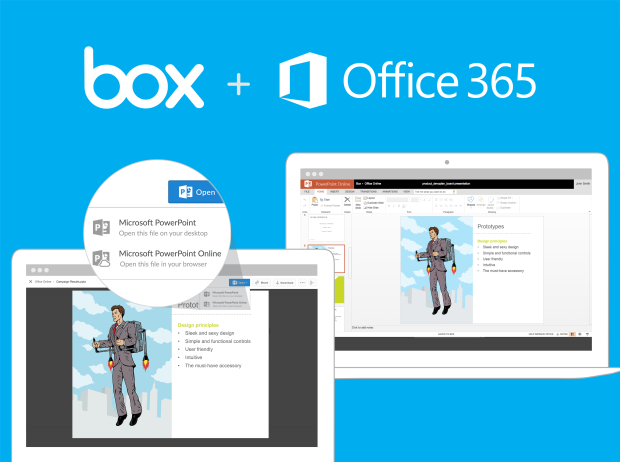 Box + Office Online Screenshot  sc 1 st  GeekWire & Box partners with Microsoft to bring Office Online document editing ...