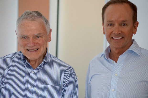 Genomics pioneer Lee Hood, left, and Maveron's Clayton Lewis, the CEO of Hood's new startup Arivale.