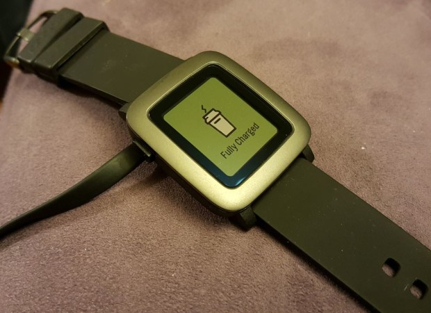 Pebble Time fully charged