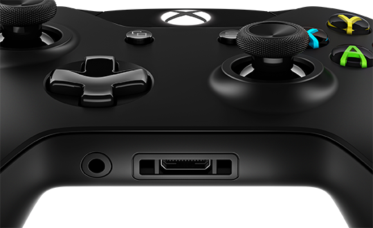The new headphone jack sits next to the existing controller port