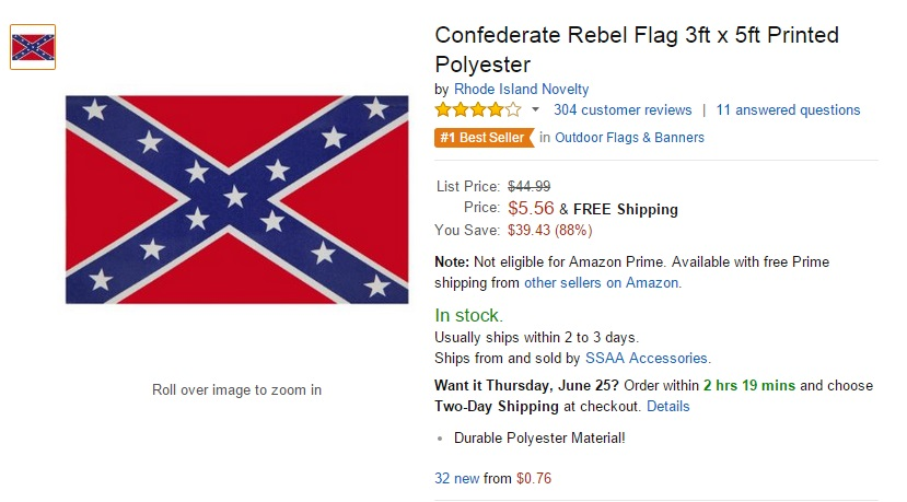 Walmart Sears And Ebay To Stop Selling Confederate Flag Products Is Amazon Next Geekwire