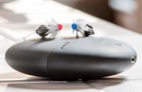 The Eargo hearing aids are modeled on a fishing fly.