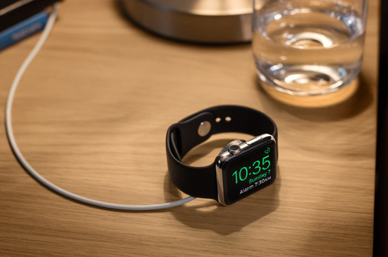 The nightstand mode for the Apple Watch