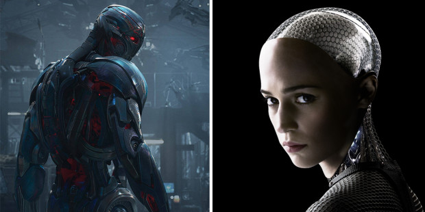 Artificial Intelligence in Avengers and Ex Machina: Time