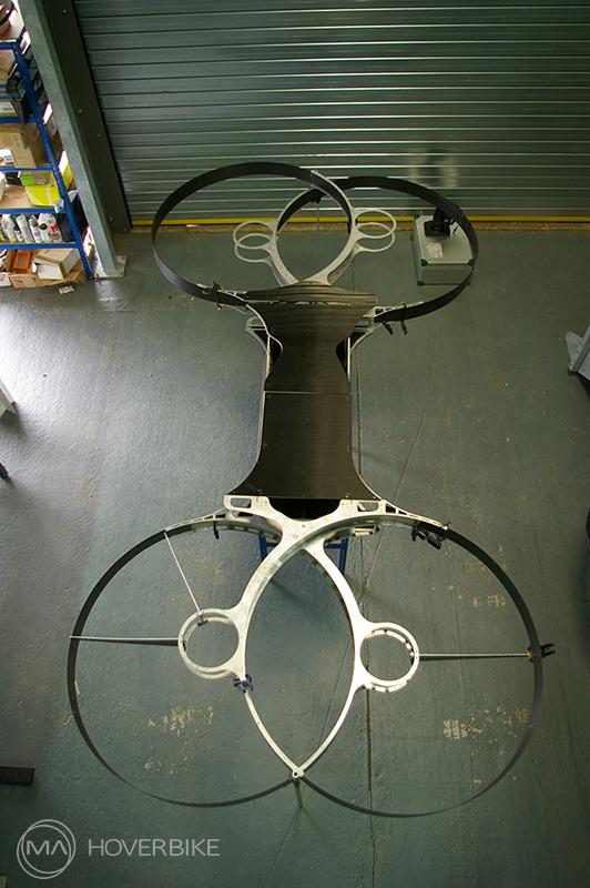 Photo of second-gen hoverbike drone via Malloy  Aeronautics