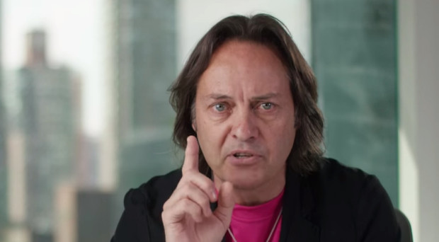 John Legere lashed out in a video today about the tactics AT&T and Verizon are using in an upcoming spectrum auction.