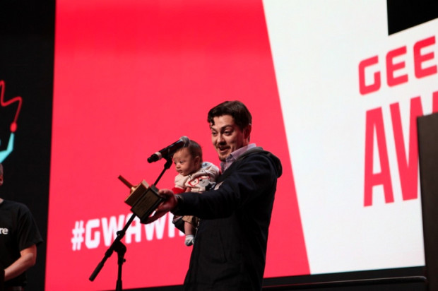Blue Box founder Jesse Proudman, winner of the 2014 Young Entrepreneur of the Year at the GeekWire Awards.