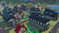 You can drop in whole structures in this LEGO Minecraft-like game.