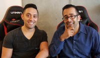 Unikrn Co-Founders Karl Flores, CMO (left), and Rahul Sood, CEO (right).