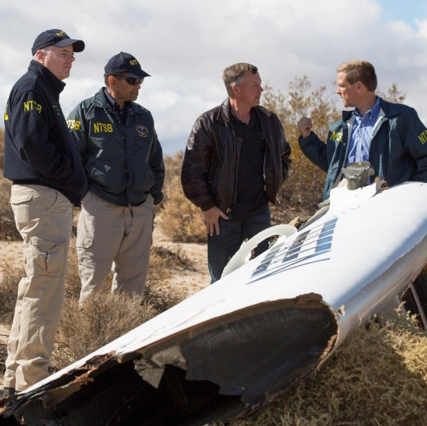 Virgin Galactic's Todd Ericson and NTSB investigators