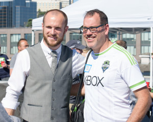 Sounders FC keeper Stefan Frei at GeekWire Sounders Day
