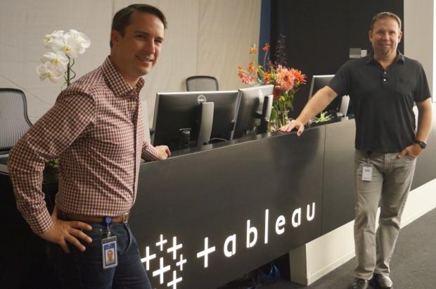 Robert Hendrick and Brett Thompson at the Tableau headquarters.