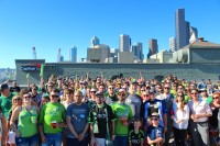 Over 400 geeks came out for GeekWire Sounders Day on July 18 on the rooftop of EMC/Isiilon.