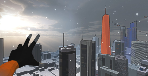 Screenshot of the New York level in Endeavor One's VR game Jump.