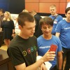 Joe Belfiore talks with Microsoft Insiders at a launch event in Bellevue.