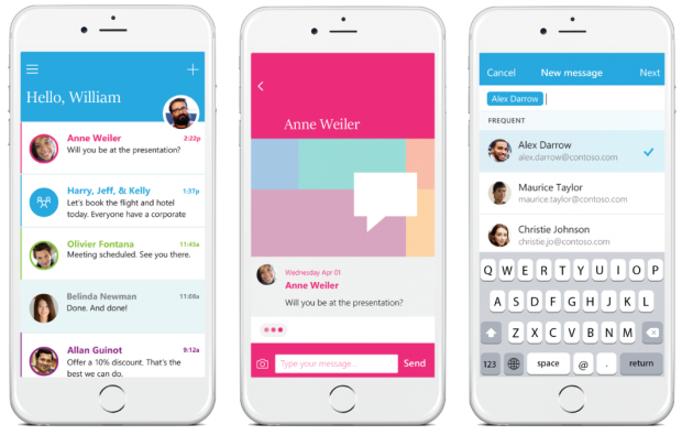 Microsoft's new 'Send' app for iPhone is a messaging client