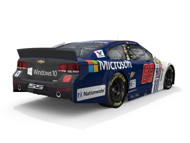 Here S The Microsoft Branded Car Dale Earnhardt Jr Will