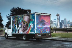 """Seattle artist Jeff """"Weirdo"""" Jacobson interprets #PrimeLiving. Amazon is hosting giving you a chance to win $10,000 in Amazon Gift Cards by entering a photo contest that best depicts Amazon Prime."""
