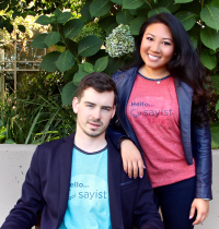 Sayist co-founders Bryan Brzeg and Michele Liang