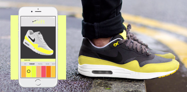 The sneakers of the future will switch colors with a tap on your smartphone