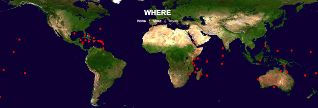 Photo via Global FinPrint/Map of bait locations