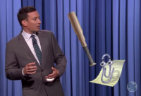 Microsoft's Clippy the Office assistant appears on The Tonight Show Starring Jimmy Fallon.