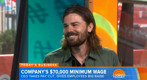 Dan Price on the Today Show.