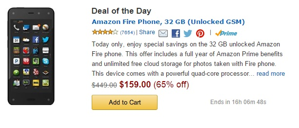 fire phone deal of the day