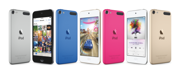 The new colors, which are available across all iPod models