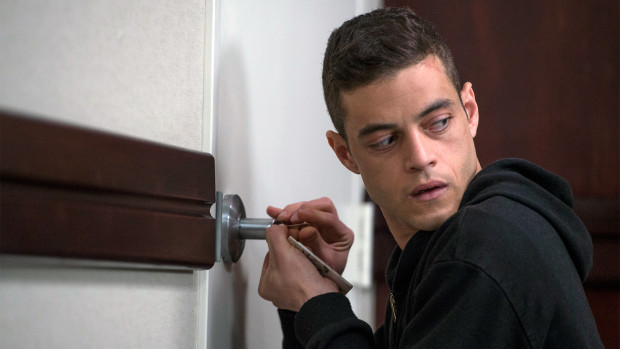 Rami Malek plays Elliot in Mr. Robot. Photo via USA Network.