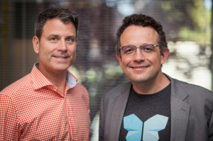 Evernote CEO Chris O'Neill (left) and Evernote Co-founder and Executive Chairman Phil Libin